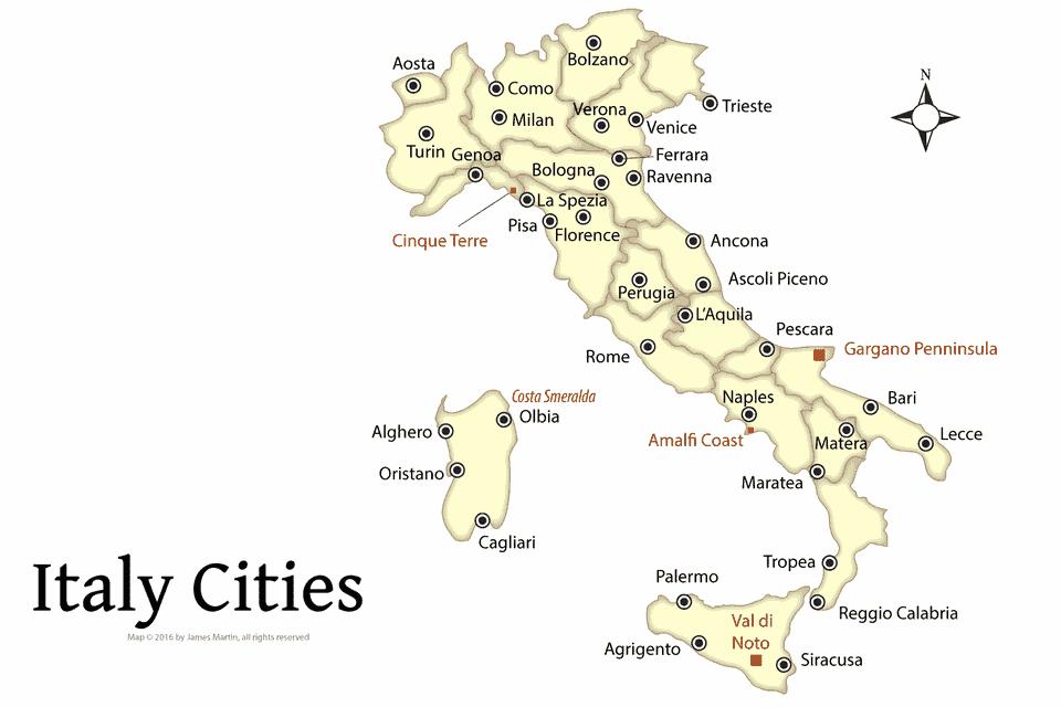 شهرهای مهم ایتالیا